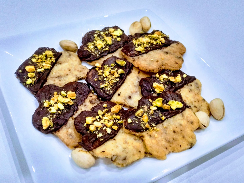 Bolachas Chocolate Pistácio