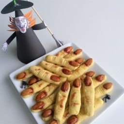 Bolachas e Biscoitos Dedos de Bruxa Halloween