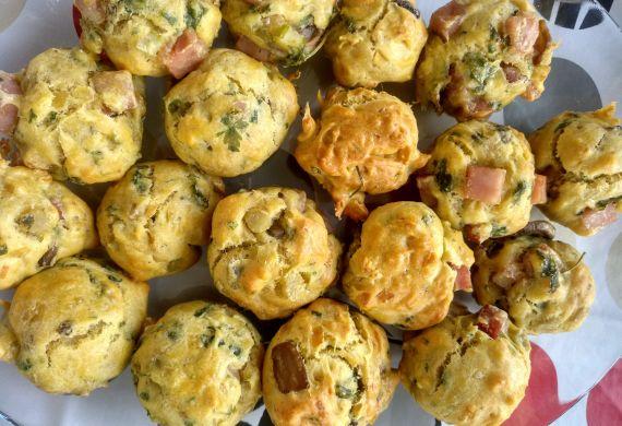 Muffins de Fiambre e Cogumelos
