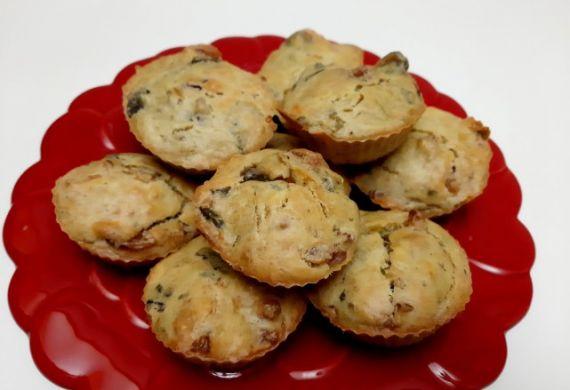 Muffins Fiambre Cogumelos